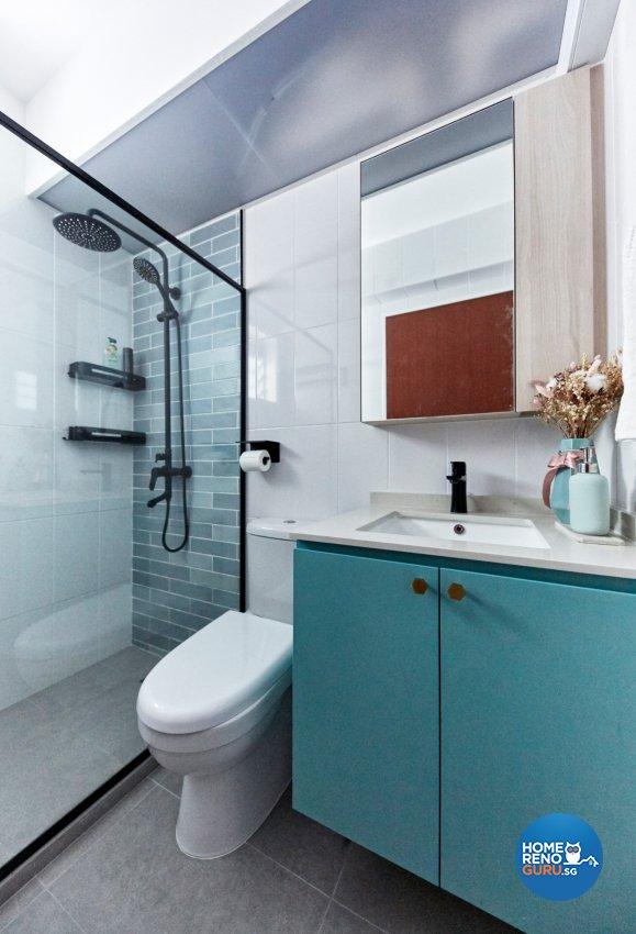 Eclectic, Modern, Scandinavian Design - Bathroom - HDB 4 Room - Design by Productions Pte Ltd