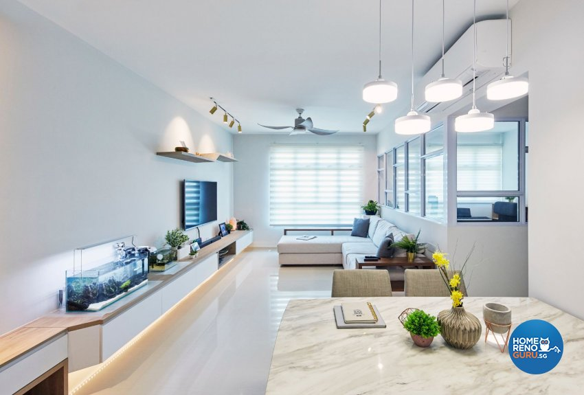Classical, Minimalist, Modern Design - Living Room - HDB 4 Room - Design by PRDT Pte Ltd