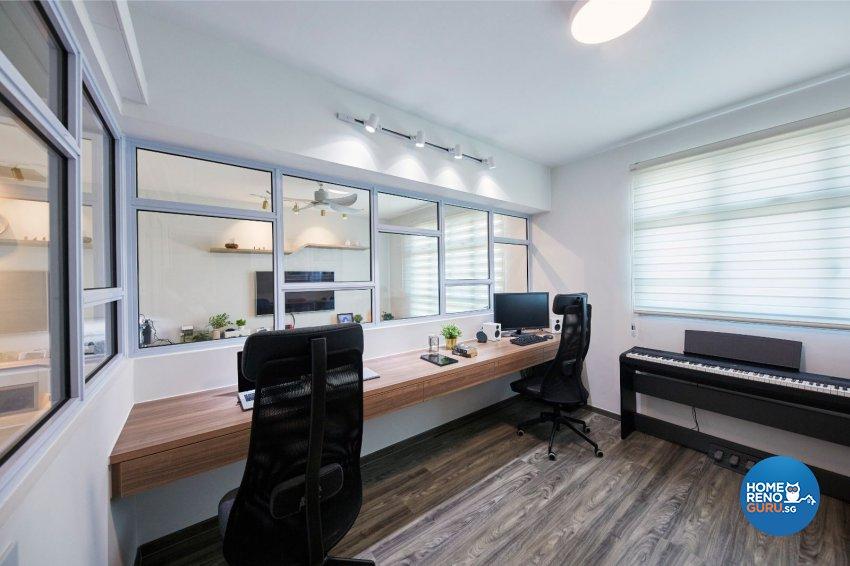 Classical, Minimalist, Modern Design - Study Room - HDB 4 Room - Design by PRDT Pte Ltd