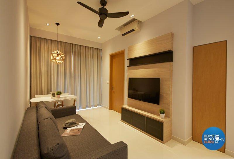 Contemporary, Modern Design - Living Room - Condominium - Design by Productions Pte Ltd