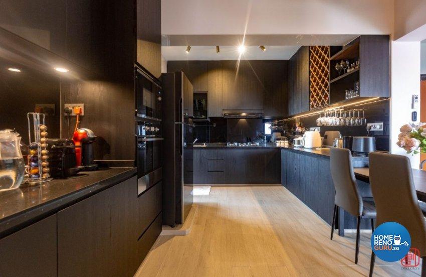Contemporary, Modern, Scandinavian Design - Kitchen - HDB 4 Room - Design by Productions Pte Ltd