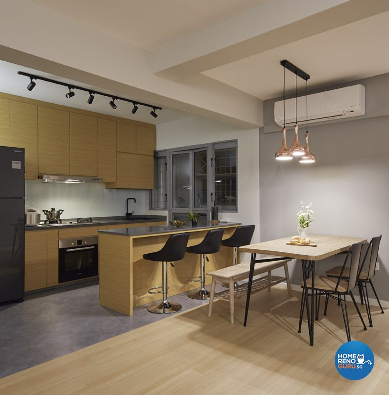 Contemporary, Eclectic, Modern Design - Kitchen - HDB 5 Room - Design by Productions Pte Ltd