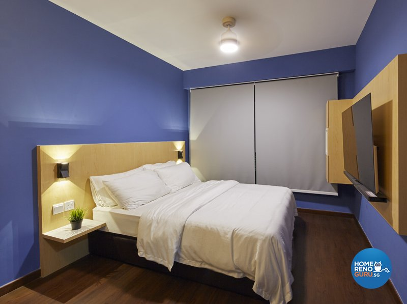 Contemporary, Eclectic, Modern Design - Bedroom - HDB 5 Room - Design by Productions Pte Ltd