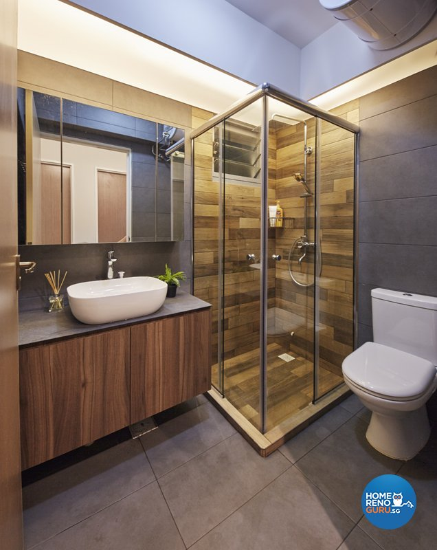Contemporary, Eclectic, Modern Design - Bathroom - HDB 5 Room - Design by Productions Pte Ltd