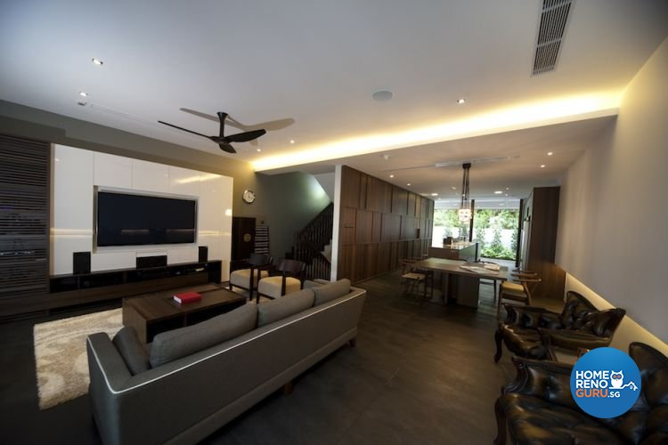 Contemporary, Industrial Design - Living Room - Landed House - Design by Project File Pte Ltd