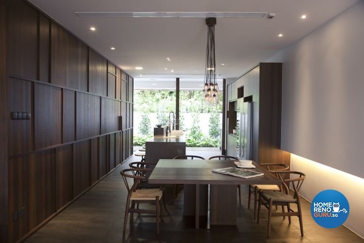 Contemporary, Industrial Design - Dining Room - Landed House - Design by Project File Pte Ltd