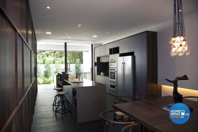 Contemporary, Industrial Design - Kitchen - Landed House - Design by Project File Pte Ltd