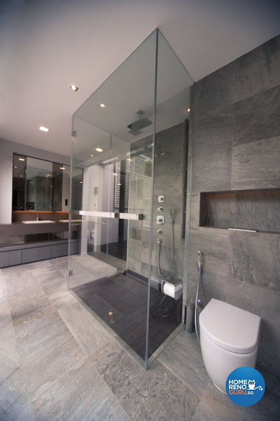 Contemporary, Industrial Design - Bathroom - Landed House - Design by Project File Pte Ltd
