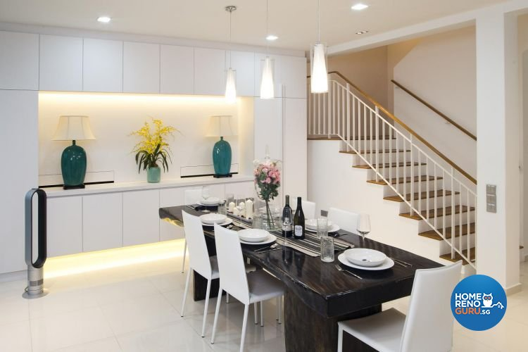 Contemporary, Minimalist, Scandinavian Design - Dining Room - Landed House - Design by Project I Pte Ltd