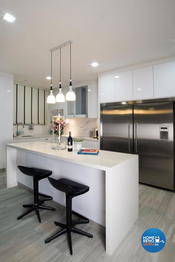 Contemporary, Minimalist, Scandinavian Design - Kitchen - Landed House - Design by Project I Pte Ltd