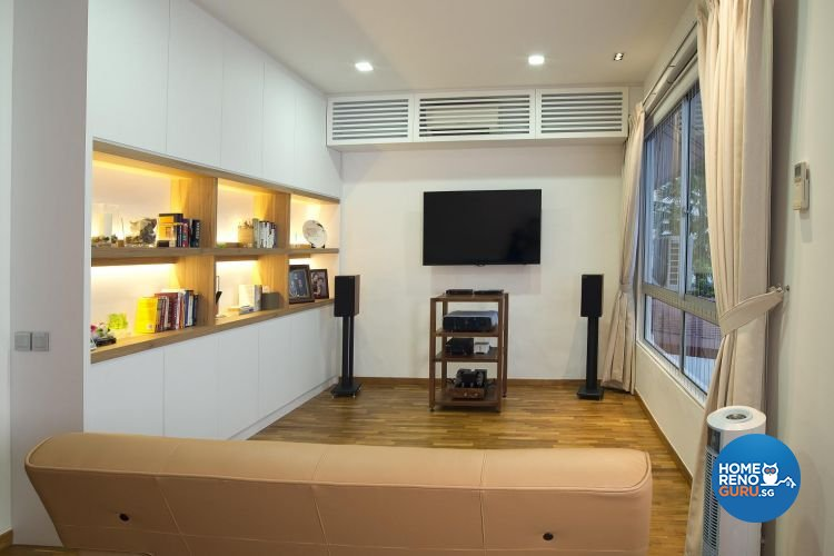 Contemporary, Minimalist, Scandinavian Design - Entertainment Room - Landed House - Design by Project I Pte Ltd