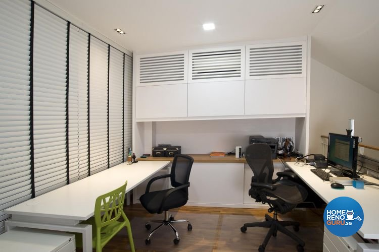 Contemporary, Minimalist, Scandinavian Design - Study Room - Landed House - Design by Project I Pte Ltd