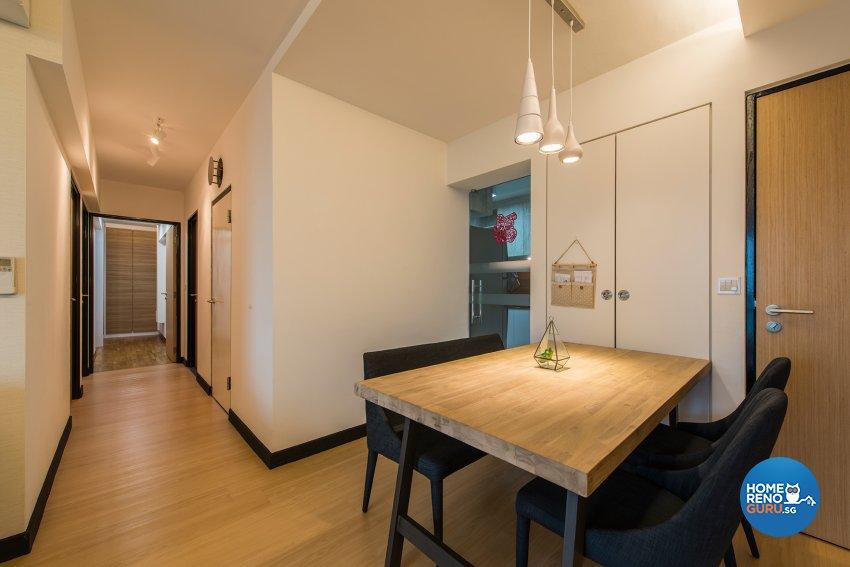 Modern, Scandinavian Design - Dining Room - HDB 4 Room - Design by Projectguru Pte Ltd