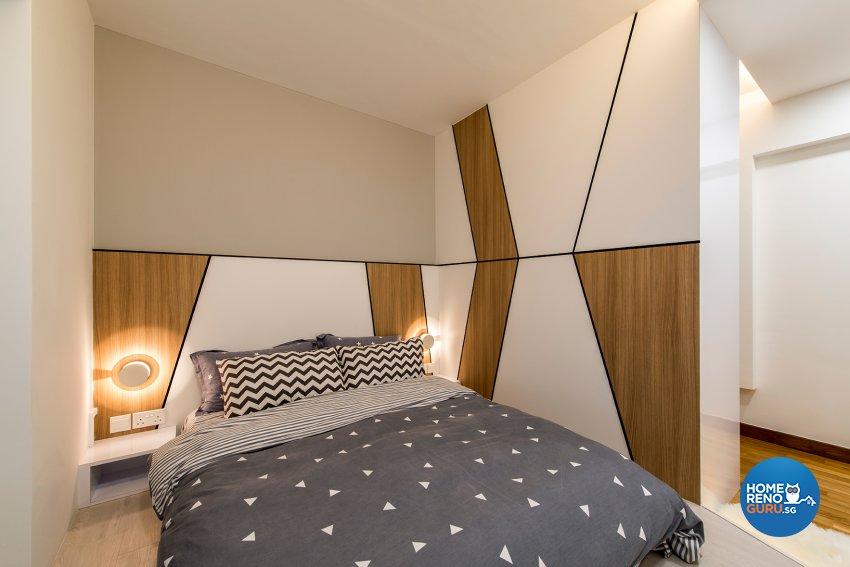Modern, Scandinavian Design - Bedroom - HDB 4 Room - Design by Projectguru Pte Ltd
