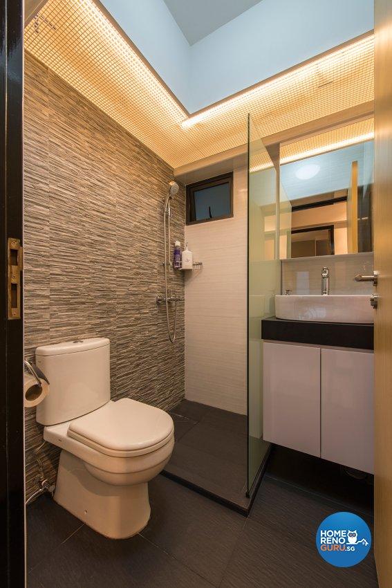 Modern, Scandinavian Design - Bathroom - HDB 4 Room - Design by Projectguru Pte Ltd