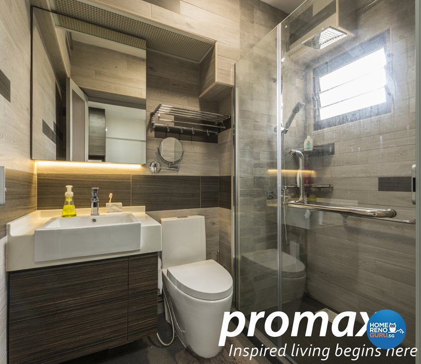 Resort Design - Bathroom - HDB 4 Room - Design by Promax Design Pte Ltd