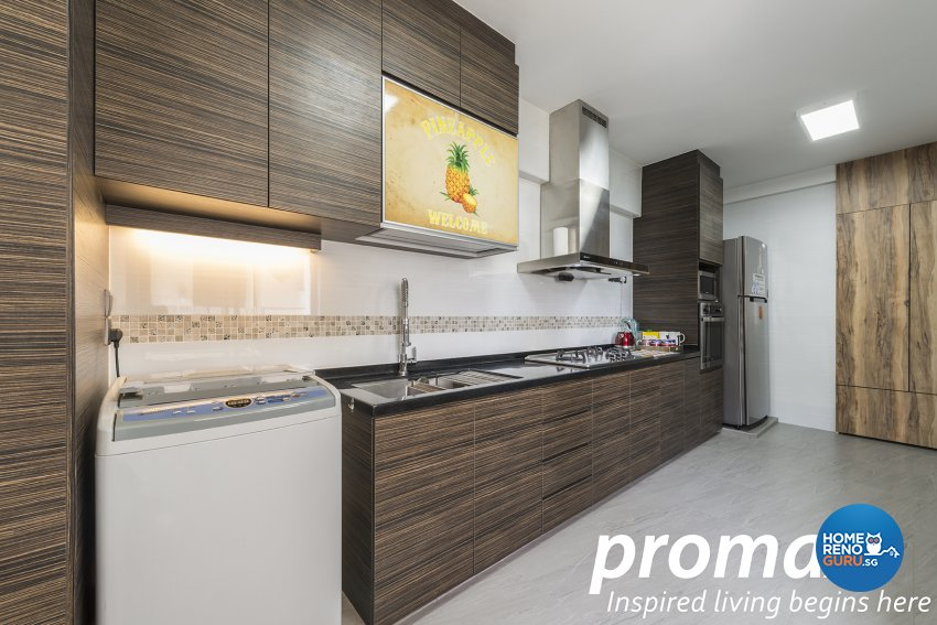 Resort Design - Kitchen - HDB 4 Room - Design by Promax Design Pte Ltd