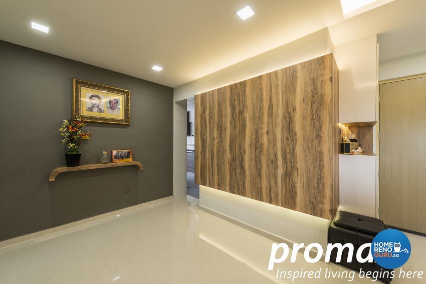 Resort Design - Living Room - HDB 4 Room - Design by Promax Design Pte Ltd
