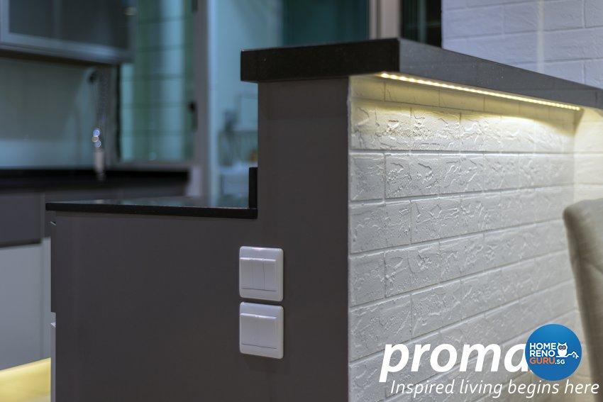 Modern Design - Kitchen - HDB 5 Room - Design by Promax Design Pte Ltd