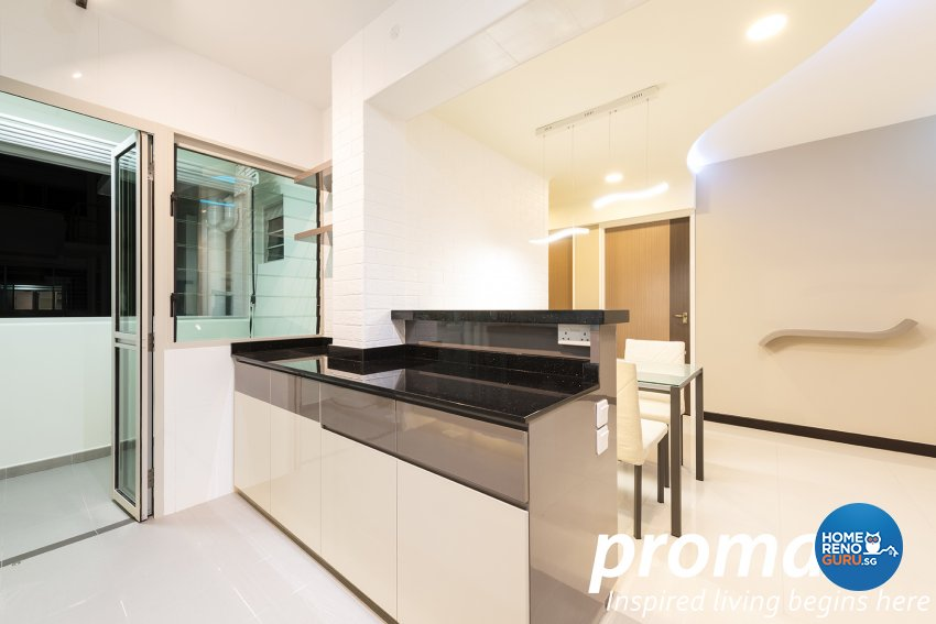 Modern Design - Dining Room - HDB 5 Room - Design by Promax Design Pte Ltd