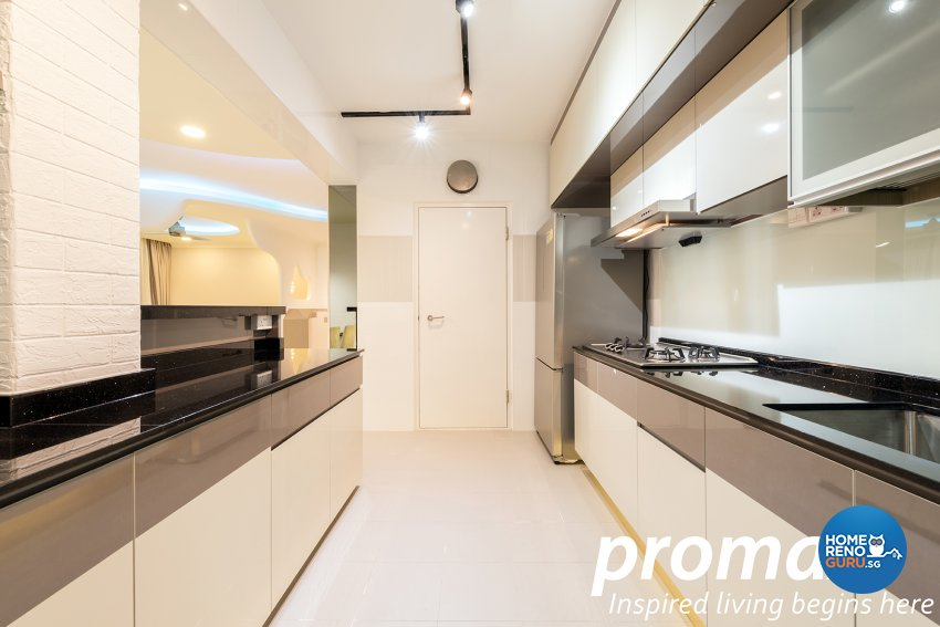 Modern Design - Kitchen - HDB 5 Room - Design by Promax Design Pte Ltd
