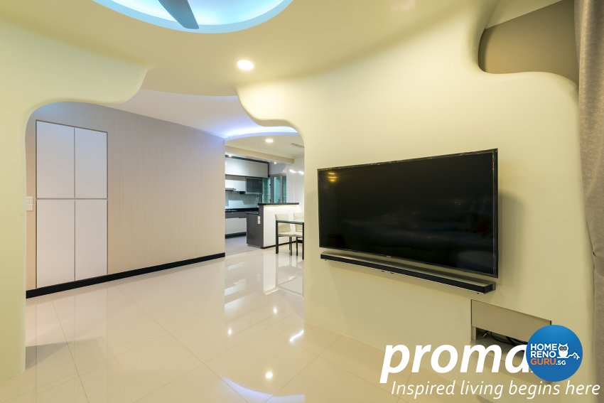Modern Design - Living Room - HDB 5 Room - Design by Promax Design Pte Ltd