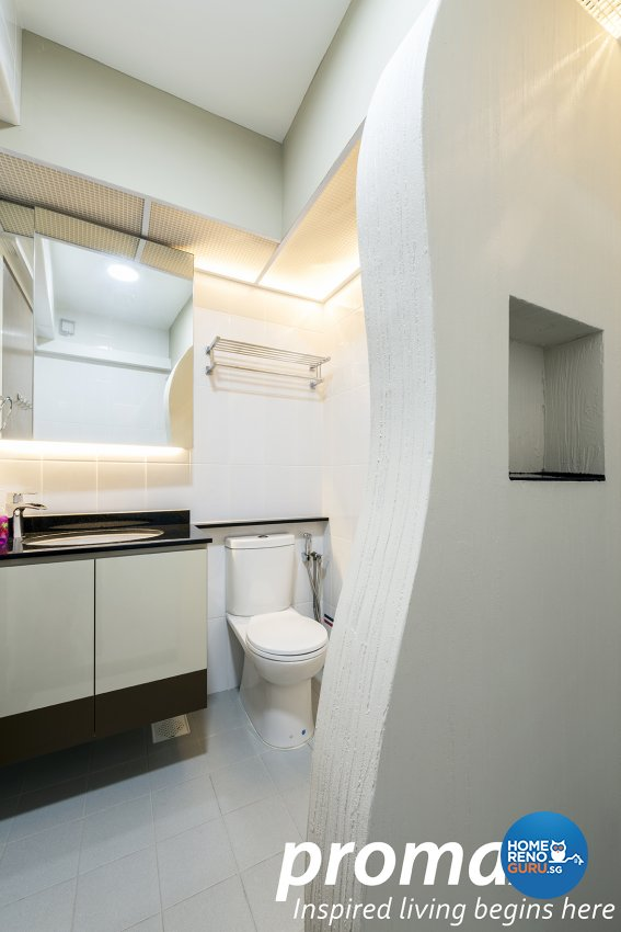 Modern Design - Bathroom - HDB 5 Room - Design by Promax Design Pte Ltd