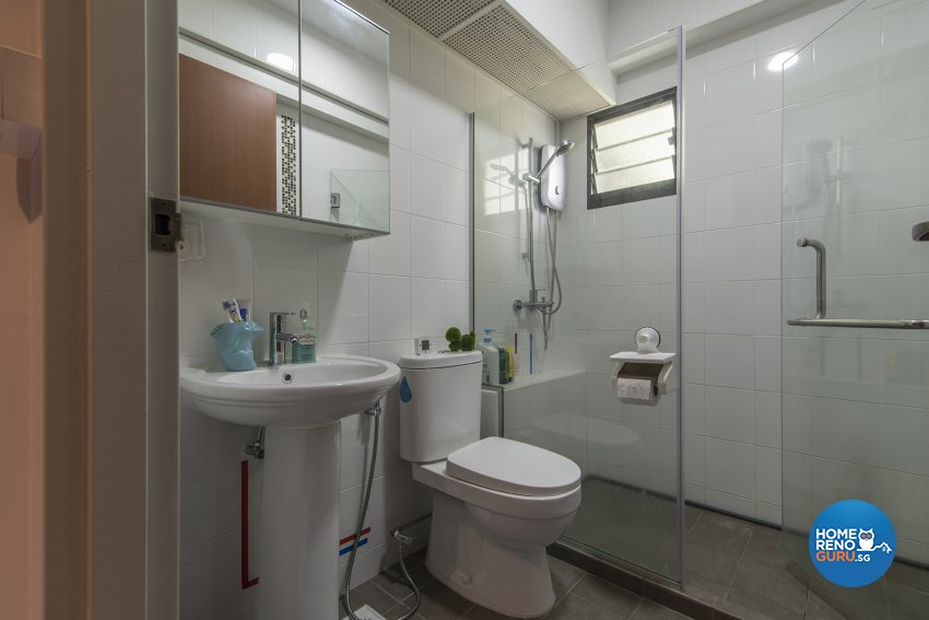Contemporary Design - Bathroom - HDB 4 Room - Design by Promax Design Pte Ltd