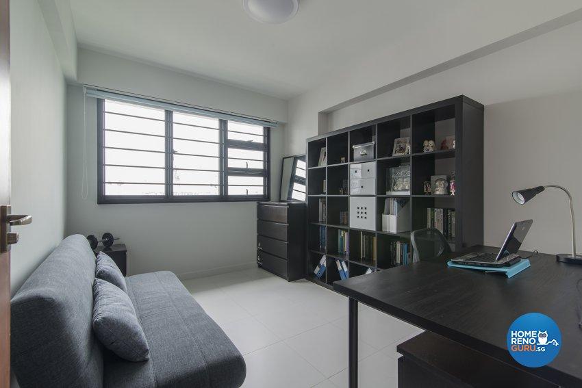 Contemporary Design - Study Room - HDB 4 Room - Design by Promax Design Pte Ltd