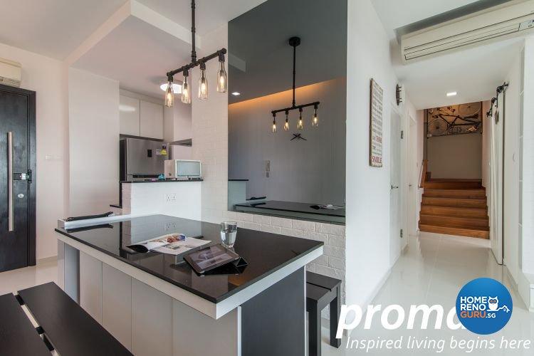 Contemporary, Minimalist Design - Dining Room - Condominium - Design by Promax Design Pte Ltd