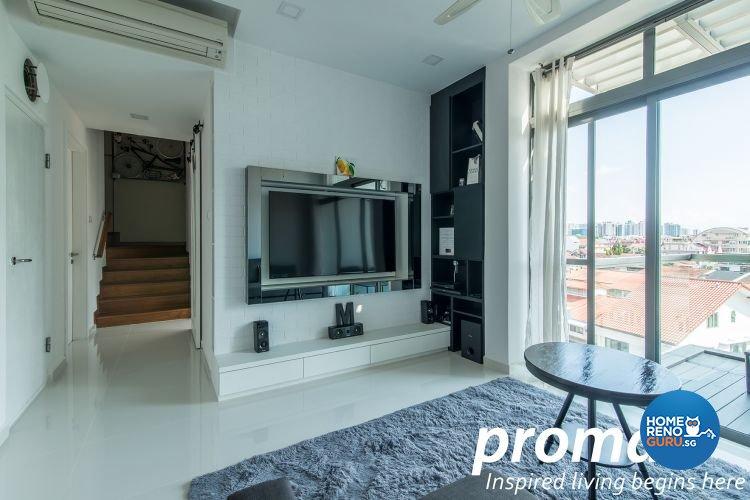 Contemporary, Minimalist Design - Living Room - Condominium - Design by Promax Design Pte Ltd