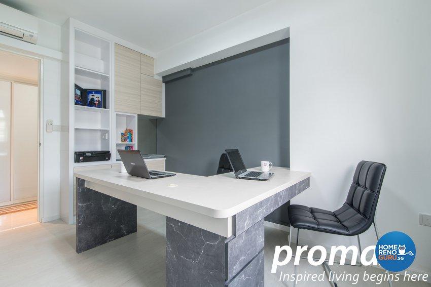 Modern Design - Study Room - HDB 5 Room - Design by Promax Design Pte Ltd