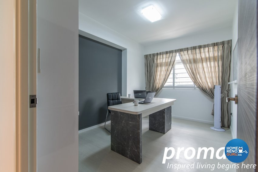 Modern Design - Study Room - HDB 5 Room - Design by Promax Design Pte Ltd