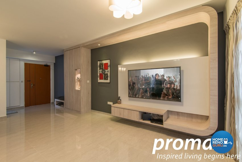 Modern Design - Living Room - HDB 5 Room - Design by Promax Design Pte Ltd