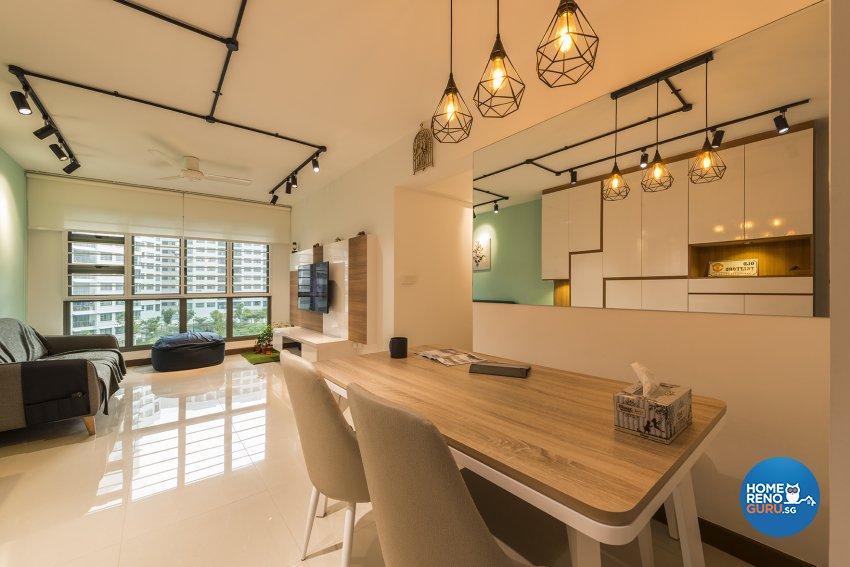 Modern, Scandinavian Design - Living Room - HDB 5 Room - Design by Promax Design Pte Ltd