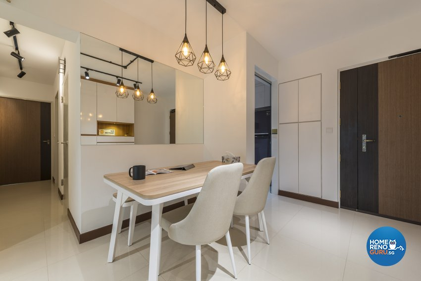 Modern, Scandinavian Design - Dining Room - HDB 5 Room - Design by Promax Design Pte Ltd