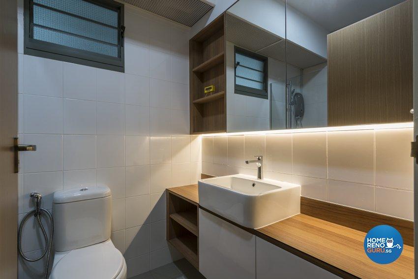 Modern, Scandinavian Design - Bathroom - HDB 5 Room - Design by Promax Design Pte Ltd
