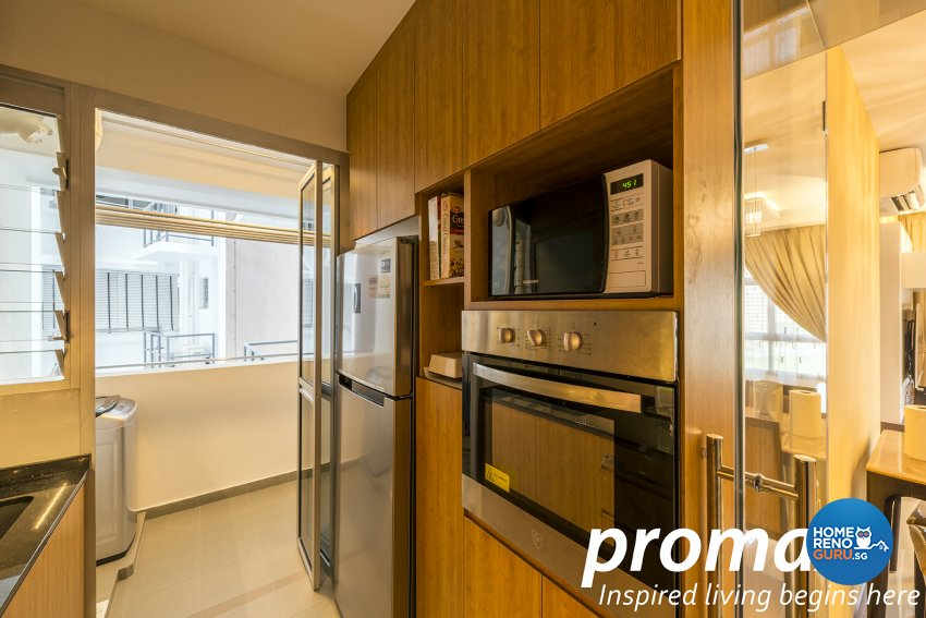 Contemporary, Modern Design - Kitchen - HDB 5 Room - Design by Promax Design Pte Ltd