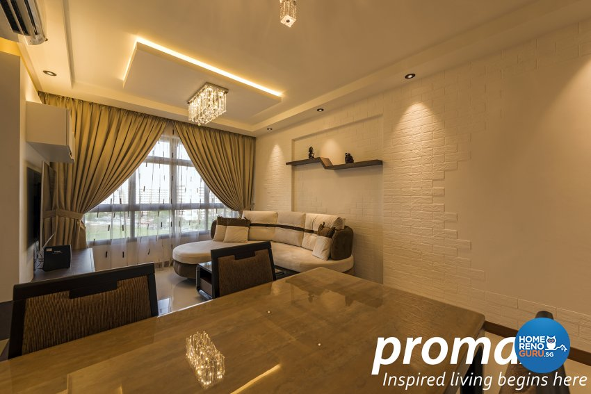 Contemporary, Modern Design - Living Room - HDB 5 Room - Design by Promax Design Pte Ltd