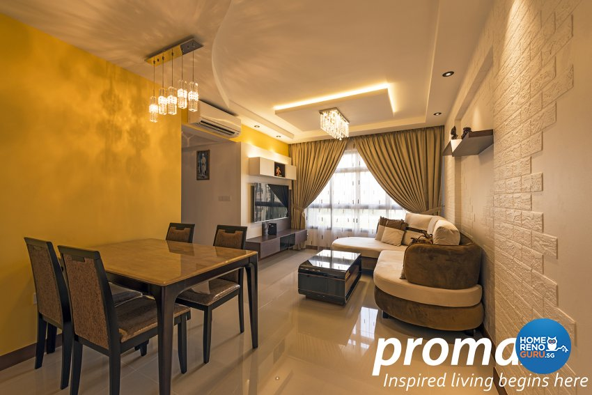 Contemporary, Modern Design - Dining Room - HDB 5 Room - Design by Promax Design Pte Ltd
