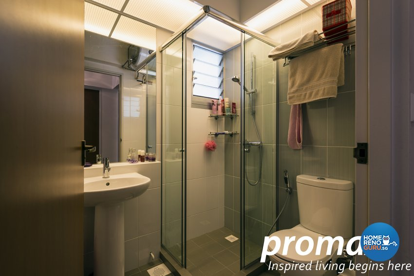 Contemporary, Modern Design - Bathroom - HDB 5 Room - Design by Promax Design Pte Ltd