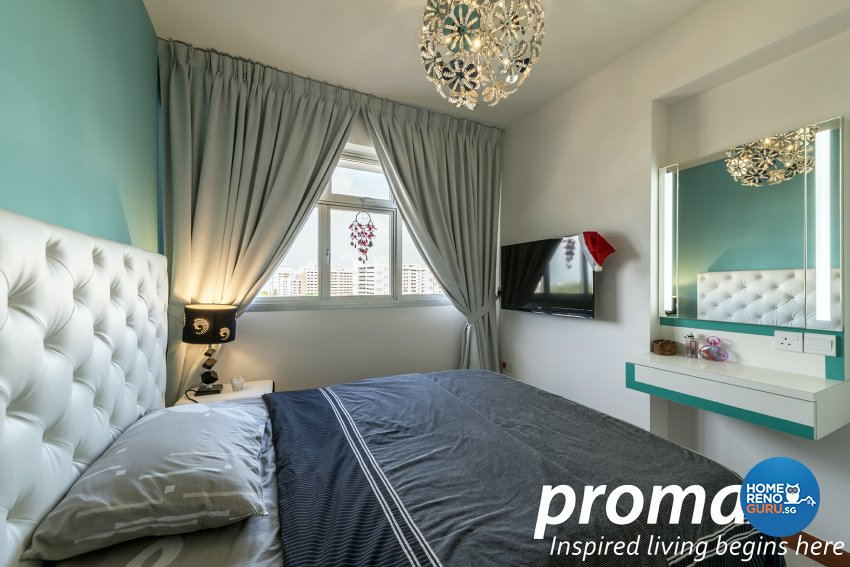 Contemporary, Modern Design - Bedroom - HDB 5 Room - Design by Promax Design Pte Ltd