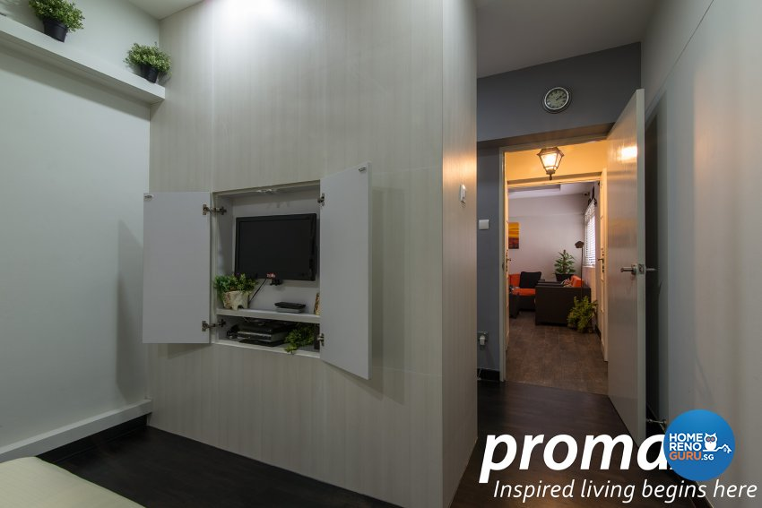 Contemporary, Victorian Design - Bedroom - HDB Executive Apartment - Design by Promax Design Pte Ltd