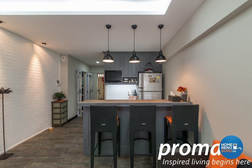 Contemporary, Victorian Design - Dining Room - HDB Executive Apartment - Design by Promax Design Pte Ltd