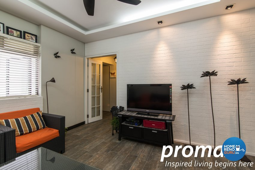 Contemporary, Victorian Design - Living Room - HDB Executive Apartment - Design by Promax Design Pte Ltd