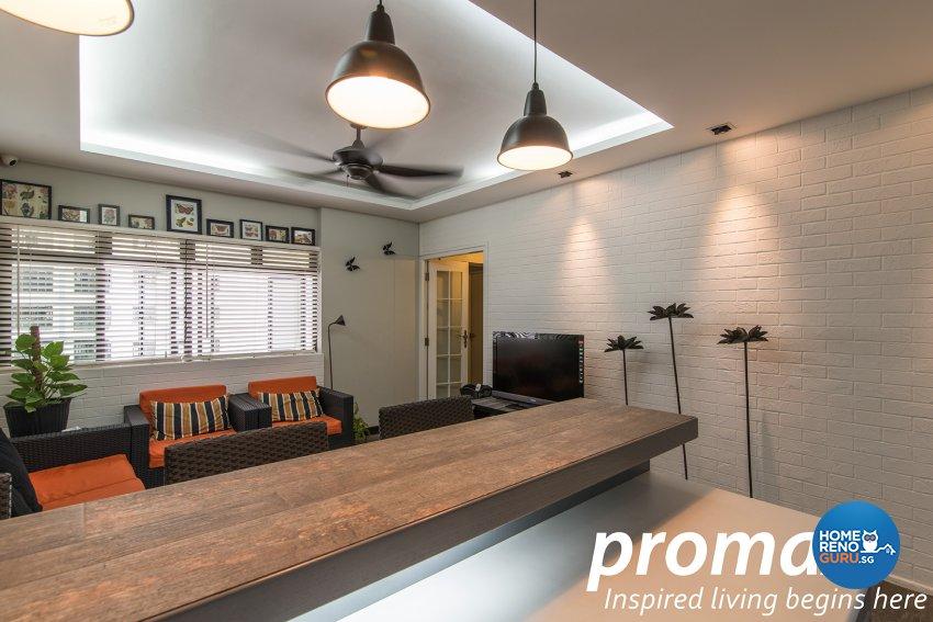 Contemporary, Victorian Design - Dining Room - HDB Executive Apartment - Design by Promax Design Pte Ltd