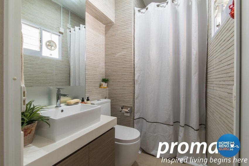 Contemporary, Victorian Design - Bathroom - HDB Executive Apartment - Design by Promax Design Pte Ltd