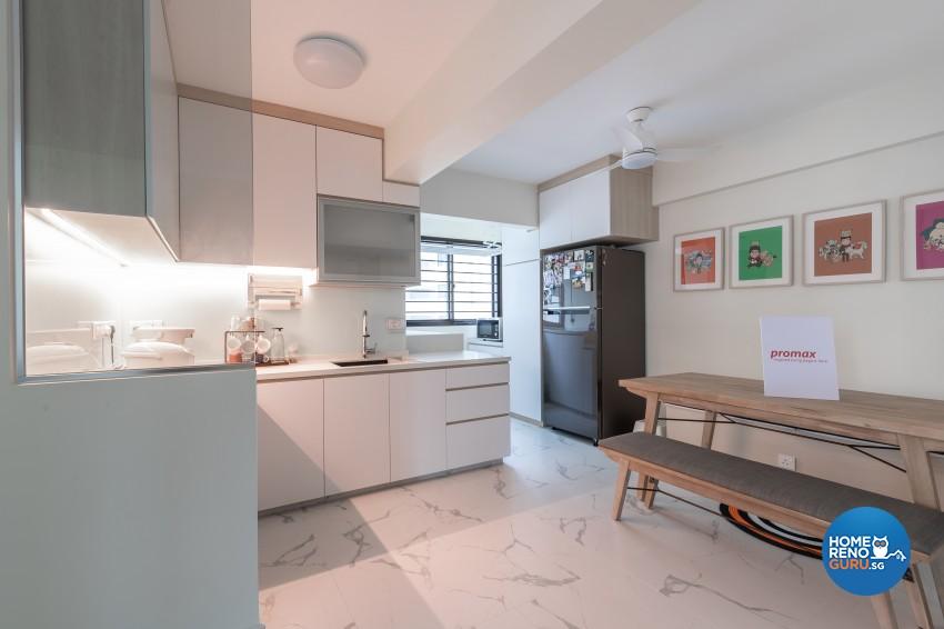 Scandinavian Design - Kitchen - HDB 4 Room - Design by Promax Design Pte Ltd