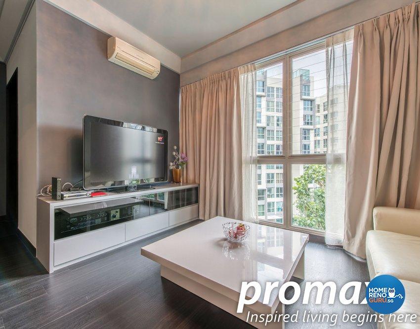 Modern, Rustic Design - Living Room - Condominium - Design by Promax Design Pte Ltd