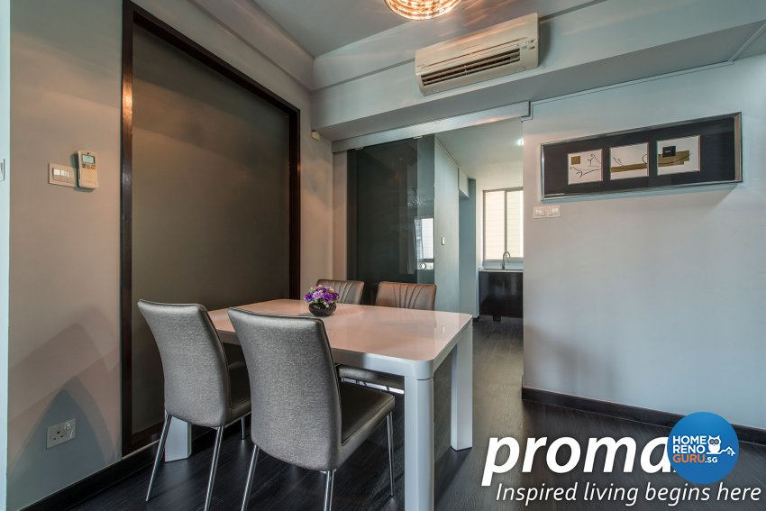 Modern, Rustic Design - Dining Room - Condominium - Design by Promax Design Pte Ltd